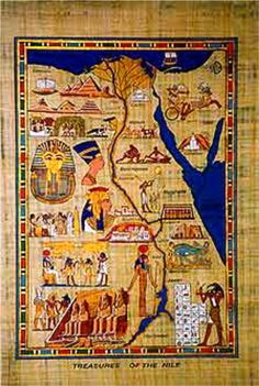 Map of Ancient Egypt | Egyptian Papyrus | Pinterest | Ancient ...