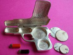 Scarce WB Mfg Co Antique Pistol Compact Beauty Box Art Deco Figural Makeup Case   eBay