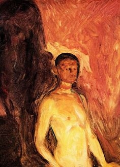Self Portrait in Hell | Edvard Munch | oil painting