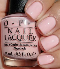 """OPI - I Theodora You - """"More opaque and less jelly but still squishy pale pink. This is two coats."""""""