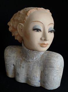 Skulptur Mit der Zeit   Margit Hohenberger   Keramik Kunst