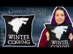 Almofada Game of Thrones (House Stark) - DIY Geek.  https://youtu.be/UEuKmYOqJZw