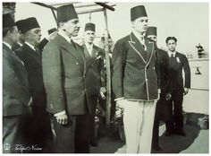 https://flic.kr/p/dRRYV8 | Young King Farouk of Egypt & Prime Minister Ali Maher Pasha attending unknown event
