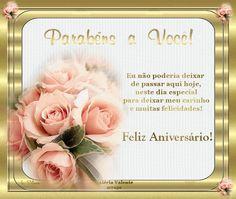 imagens de feliz aniversario com flores para face - Pesquisa Google