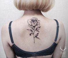 Image result for long stem roses tattoos on back