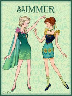 Elsa and Anna Disney Princess Fashion, Disney Princess Pictures, Disney Princess Art, Disney Fan Art, Disney Love, Frozen Wallpaper, Cute Disney Wallpaper, Disney And Dreamworks, Disney Pixar