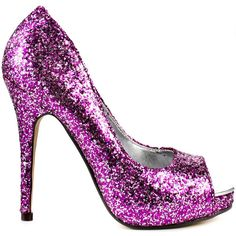 Michael Antonio Women's Keme 2 - Pink Glitter PU ($51) ❤ liked on Polyvore featuring shoes, pumps, pink, peeptoe pumps, peep-toe pumps, pink high heel pumps, pink sparkly pumps and high heel pumps