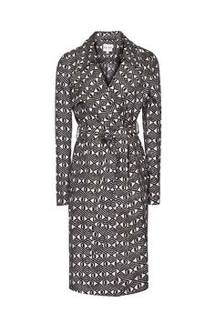 30 Spring-Perfect Trenches Every London Girl Needs #refinery29  http://www.refinery29.com/rain-trench-coats#slide-13  Go graphic with this black and white print.Reiss 1971 Radzi printed trench coat, £245, available at Reiss.