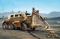 Рисунок Buffalo A2 MPCV на рабочий стол | Бронетехника War Wallpapers Military Engineering, Monster Trucks, Vehicles, Car, Vehicle, Tools