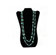 Light Blue Necklace, Boho Necklace Long, Blue Plastic Bead Necklace, Vintage Long Necklace Boho, Baby Blue Necklace, Powder Blue Necklace by FemByDesign on Etsy