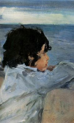 (detail) Two Boys  -  Valentin Serov  - 1899
