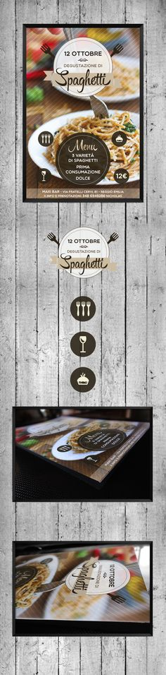 Spaghetti // Flyer by GiadaLand, via Behance