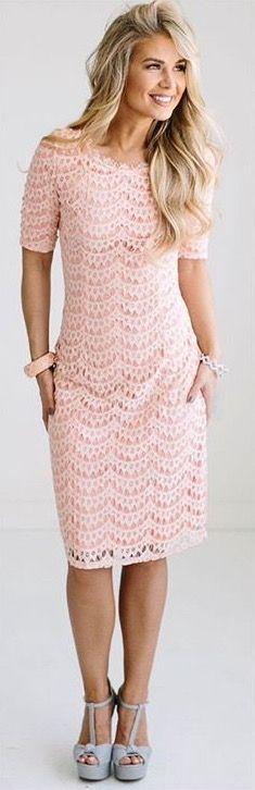 Neesees dresses dreamy eyelash lace dress-blush   Bridesmaid dress