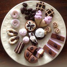 Fimo klei bonbons voor in de bakkerswinkel