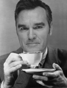 """#Morrissey """"Have some greased tea with me""""  http://louderbombs.tumblr.com/"""