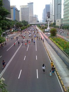 Car Free Day @ Jakarta, Indonesia, beautiful places to visit in Indonesia.