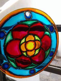 Mandala, vidrio 12cm