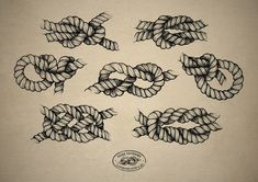 Rope tattoo design