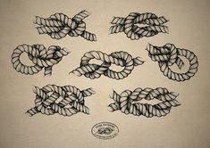 Rope/ knot tattoo design
