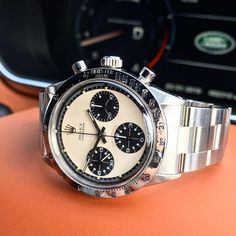 ◾️ A Paul Newman Rolex Daytona 6262 Circa Another great pairing of two iconic luxury brands. Rolex Paul Newman, Rolex Daytona Paul Newman, Rolex Cosmograph Daytona, Mens Fashion Suits, Mens Suits, Vintage Rolex, Luxury Branding, Omega Watch, Rolex Watches