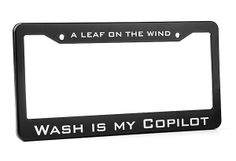 """""""Wash Is My Copilot"""" License Plate Frame"""