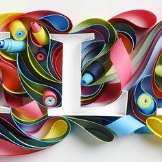 "Quilled ""L"" by sabeena karnik"