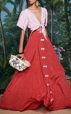 The Talitha Blouse by REBECCA DE RAVENEL for Preorder on Moda Operandi