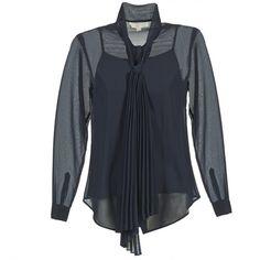 MICHAEL Michael Kors BRUAND Marine - Gratis levering bij Spartoo.be ! - Textiel Blouses Dames € 132,00