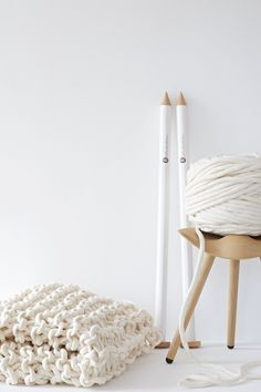 ... extreme knitting - chunky knits with felted merino yarn ... link: http://de.dawanda.com/shop/lebenslustiger