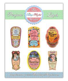The Cottage Market: Vintage Perfume Label Digital Images Printables Free on Thankful Thursday Printable Labels, Printable Paper, Free Printables, Printable Worksheets, Vintage Labels, Vintage Diy, Vintage Perfume, Scrapbook Paper, Scrapbooking