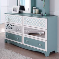 Try this on dresser tv stand purple w mirror and pattern fronts