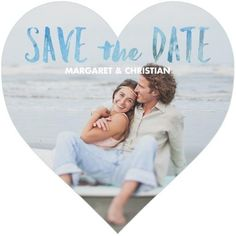 Nothing's sweeter than a romantic heart to announce the date.