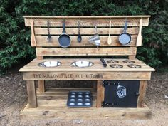 Mud Kitchens made from recycled wood