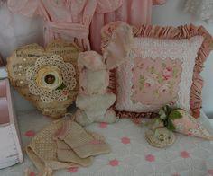 A vignette sewing room by Sweet Vintage Rose Cottage, via Flickr
