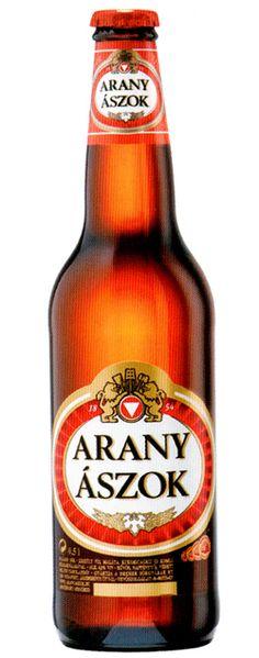Arany Ászok (pr. ah-rahn-ya-sok) (means Golden Aces), popular Hungarian lager beer #beer #hungarian