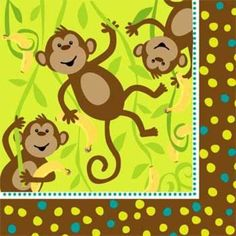Monkey Around Napkins (16-pack)