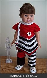 Free Crochet Black and White & Red all over Pattern.
