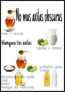 CONSEJOS PARA CHICAS : BLANQUEA TUS AXILAS CON INGREDIENTES NATURALES