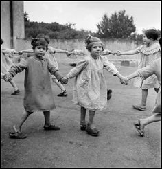 David Seymour ITALY. Naples. Albergo dei Poveri. 1948. Game at a girls' orphanage run by Catholic nuns.