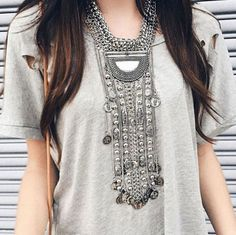 Etnic-Turkish-Jewelry-Multilayer-Long-Coins-Tassel-Chains-Statement-Necklace
