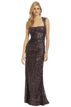 Nicole Miller Sequin Tyrian Purple Gown | Wore this to the 2013 Tony Awards... hands down the most amazing dress I've EVER worn! And it's a beautiful purple - the photo doesn't do the color justice.