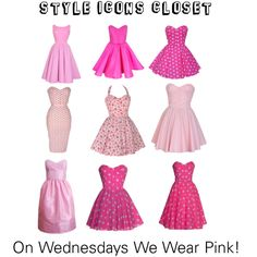 """On Wednesdays We Wear Pink!"" by styleiconscloset on Polyvore"