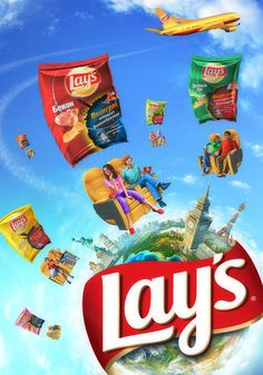 """Get a Trip with Lay's"" Promo Visual on Behance Visual Advertising, Clever Advertising, Advertising Design, Creative Poster Design, Ads Creative, Creative Posters, Social Media Art, Best Web Design, Advertising Photography"