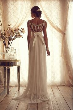 beautiful anna campbell wedding dress