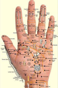 Detailed hand chart