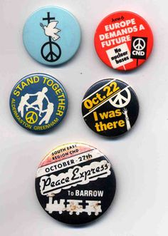 1970s and 1980s CND badges