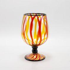 Hand Blown Glass Vase von MOODYGLASS auf Etsy
