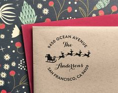 Custom Address Stamp for christmas customized gift for