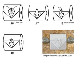 Learn how to fold a toilet paper origami bird.  No joking!