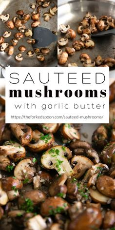 3 reviews · 17 minutes · Vegetarian Gluten free Paleo · Serves 6 · Easy Sautéed Mushrooms Recipe bathed in an irresistible garlic butter sauce. Ready in under 15 minutes, learn How to cook Mushrooms perfectly every time and serve with your favorite chicken, steak, or… More